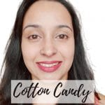 lipstick cotton candy swatch with name